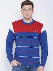 FILA Blue Sydney Striped Sweater