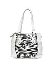 Lavie White Zebra Print Shoulder Bag