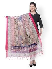 Varanga Multicoloured Printed Bhagalpuri Silk Dupatta