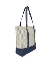 Dickies Navy & Off-White Striped Tote Bag