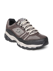 Skechers Men Brown After Burn M Fit - Strike Of Leather Training Shoes