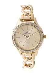 Daniel Klein Women Gold-Toned Stone-Studded Dial Watch DK10664-2