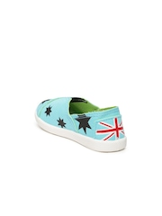 YK Kids Blue Printed Casual Shoes