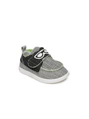 YK Kids Grey & Black Casual Shoes
