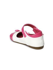 YK Girls White & Pink Mary Janes
