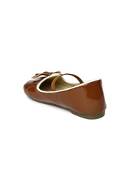 YK Girls Brown Mary Janes
