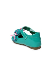 YK Girls Green Mary Janes