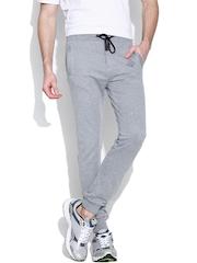 Status Quo Grey Melange Track Pants
