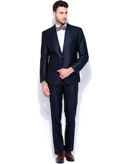 Four One Oh Navy Tailored Fit Single-Breasted Formal Suit