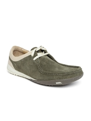 Woodland Men Olive Green Suede Casual Shoes