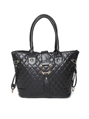 Cappuccino Black Quilted Shoulder Bag