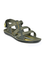 bacca bucci Men Olive Green Sports Sandals
