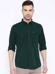 Turtle Green Slim Fit Casual Shirt