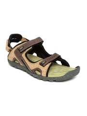 Woodland ProPlanet Men Brown Leather Sports Sandals