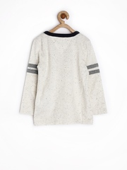 Tommy Hilfiger Boys Off-White Speckled Printed T-shirt