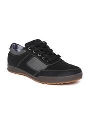 Numero Uno Men Black Suede Casual Shoes
