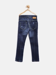 Gini and Jony Girls Navy Washed Jeans