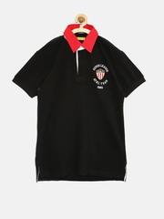 Gini & Jony Boys Black Polo T-shirt