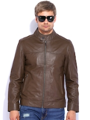 U.S. Polo Assn. Brown Biker Leather Jacket