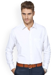 Shaftesbury London White Standard Fit Formal Shirt