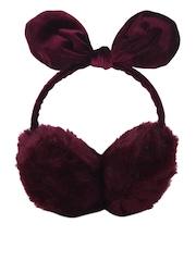 CUTECUMBER Girls Maroon Ear Muffs