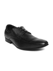 Nez by Samsonite Men Black Leather Derby Formal Shoes