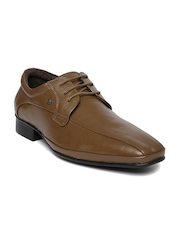 Nez by Samsonite Men Brown Leather Derby Formal Shoes