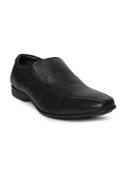 Nez By Samsonite Men Black Leather Derby Formal Shoes
