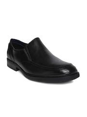 Nez By Samsonite Men Black Leather Slip-Ons