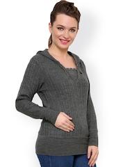Renka Grey Hooded Sweater