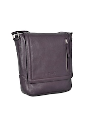 Taws Men Dark Brown Messenger Bag