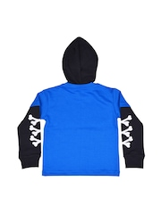 GKIDZ Boys Blue Hooded Printed Sweatshirt