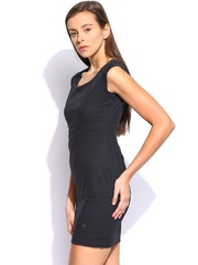 U.S. Polo Assn. Black Polka Dot Printed Sheath Dress