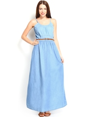 Elle Blue Denim Maxi Dress