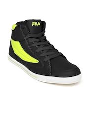 Fila Men Black & Green Streetmate Casual Shoes