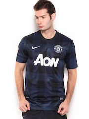 Nike Navy Blue MANU Away     Football  Tshirts