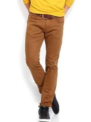 Breakbounce Men Tan Brown Craven Regular Fit Casual Trousers