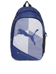 PUMA Unisex Blue & White Echo Plus Backpack