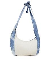 DressBerry Blue & Off-White Sling Bag