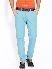 Breakbounce Men Blue Storm Tapered Fit Trousers