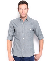 Timberland Men Blue Slim Fit Casual Shirt