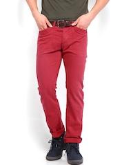 Breakbounce Men Red Cubo Buddy Hug Regular Fit Trousers