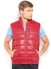 Indian Terrain Men Red Padded Jacket