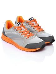 Globalite Men Grey & Orange Pace Casual Shoes