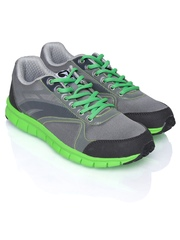 Globalite Men Grey & Green Pace Casual Shoes