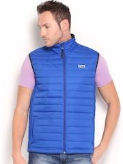 Fila Men Blue Tony Padded Sleeveless Jacket