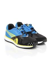 Puma Kids Black & Blue Faas 300 V2 Jr Sports Shoes