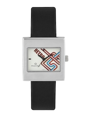 Maxima Women Off-White Printed Dial Watch E-28863LMLI