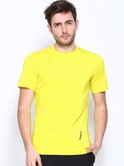 Reebok Men Yellow Slim Fit T-shirt