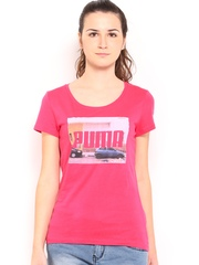 Puma Women Pink Collab Printed T-shirt